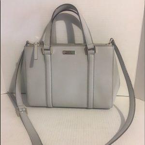 Kate Spade grey leather crossbody/ satchel Bag
